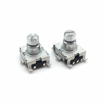 цена на 2pcs/lot EC11 Rotary Encoder Code Switch 30 Position With Push Button Switch SMD 5pin Handle Length 9.5mm Plum Shaft
