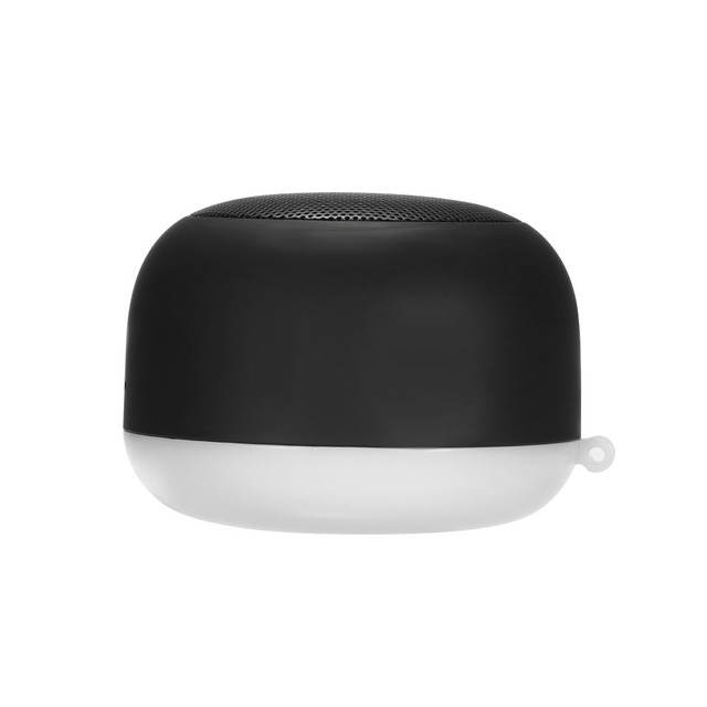 Portable Wireless Night Light BT Speaker Mini Handsfree Speakers with Broad Compatibility loudspeaker Voice Control Black