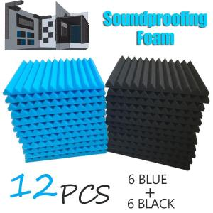 12x Black & Blue Acoustic Foam