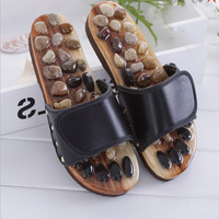 Acupuncture Health Shoes Sandals Slippers Healthy Massager Foot Care Pebble Stone Foot Massage Slippers Reflexology Feet Elderly