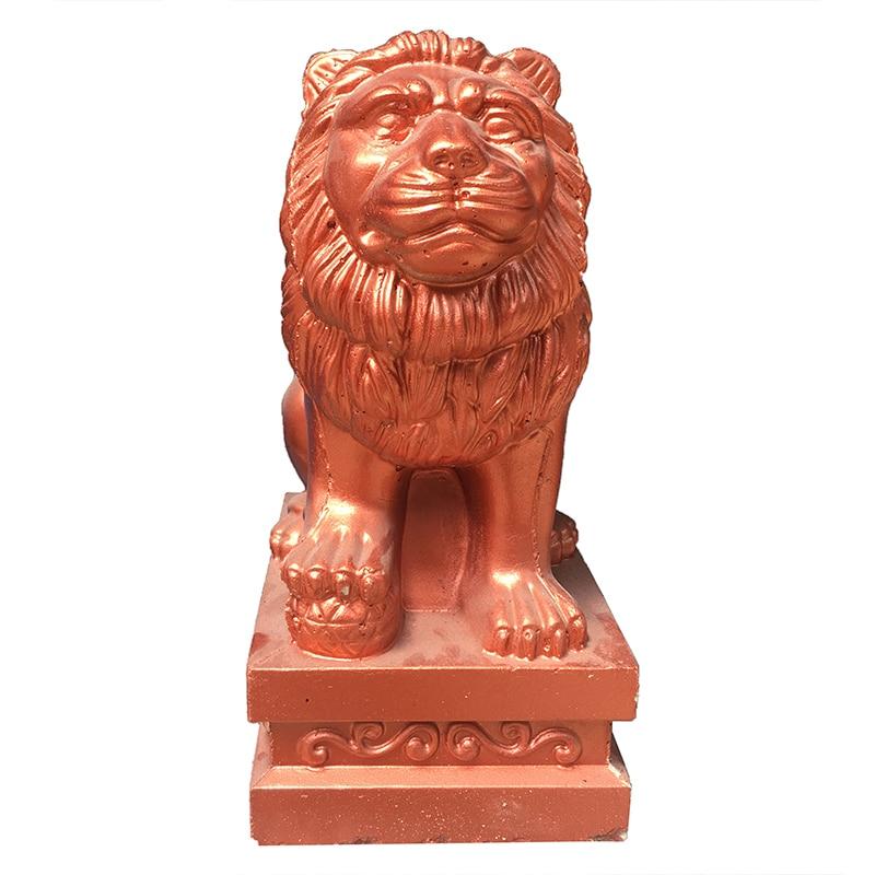 ABS Plastic Moulds Lion Statue Mold F106 Home Villa Garden Concrete Molds For Sale