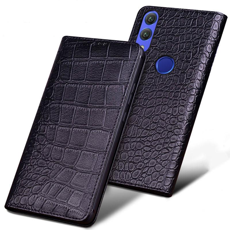 Luxury Original Genuine Crocodile Leather Phone Cases for Xiaomi Redmi Note 7 Case Fashion Phone Bags for Xiaomi Redmi Note 7