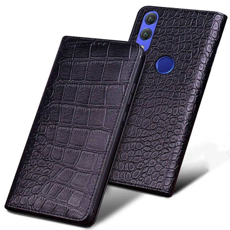 Original de luxe En Cuir de Crocodile Véritable Téléphone coque pour Xiaomi Redmi Note 7 Mode Sacs De Téléphone pour Xiaomi Redmi Note 7