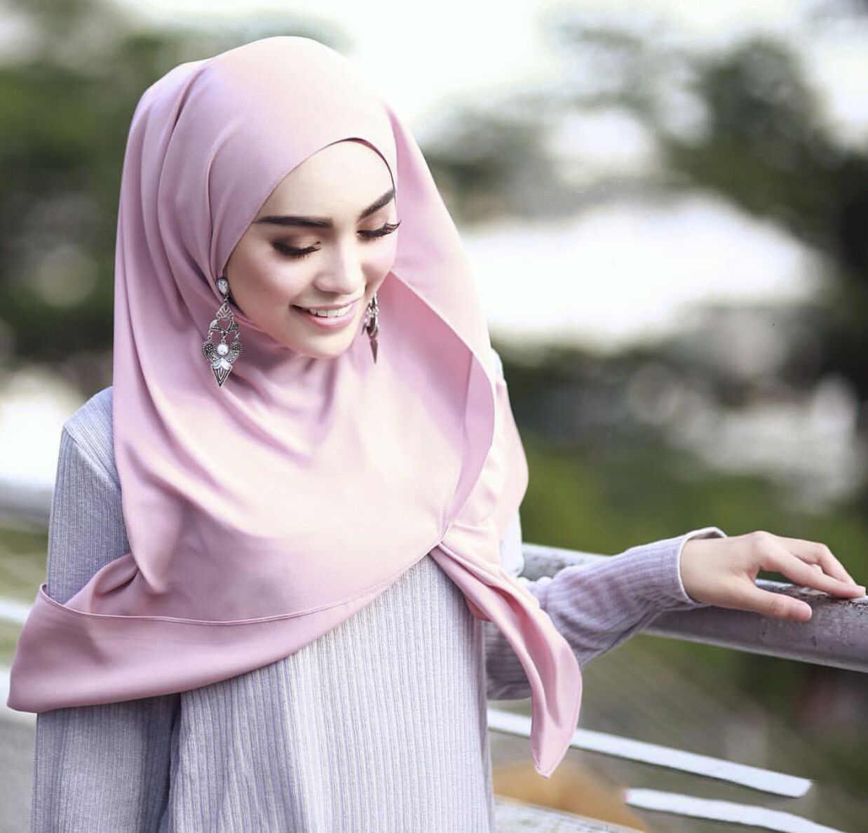 Sutra Bermutu Tinggi Higab Syal Sorban Satin Jilbab Velvet Ribbon Instan Selendang Baju Muslim Syal Untuk Wanita Muslim Islam Fashion Syal Pakaian Islamic Aliexpress