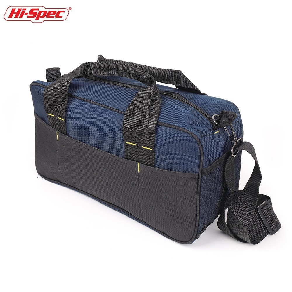 Hi-Spec Electrician Tool Bag Belt Multiple Pocket Canvas Work Bag Carpenter Tool Pouch Organizer Garage Storage Tools Holder