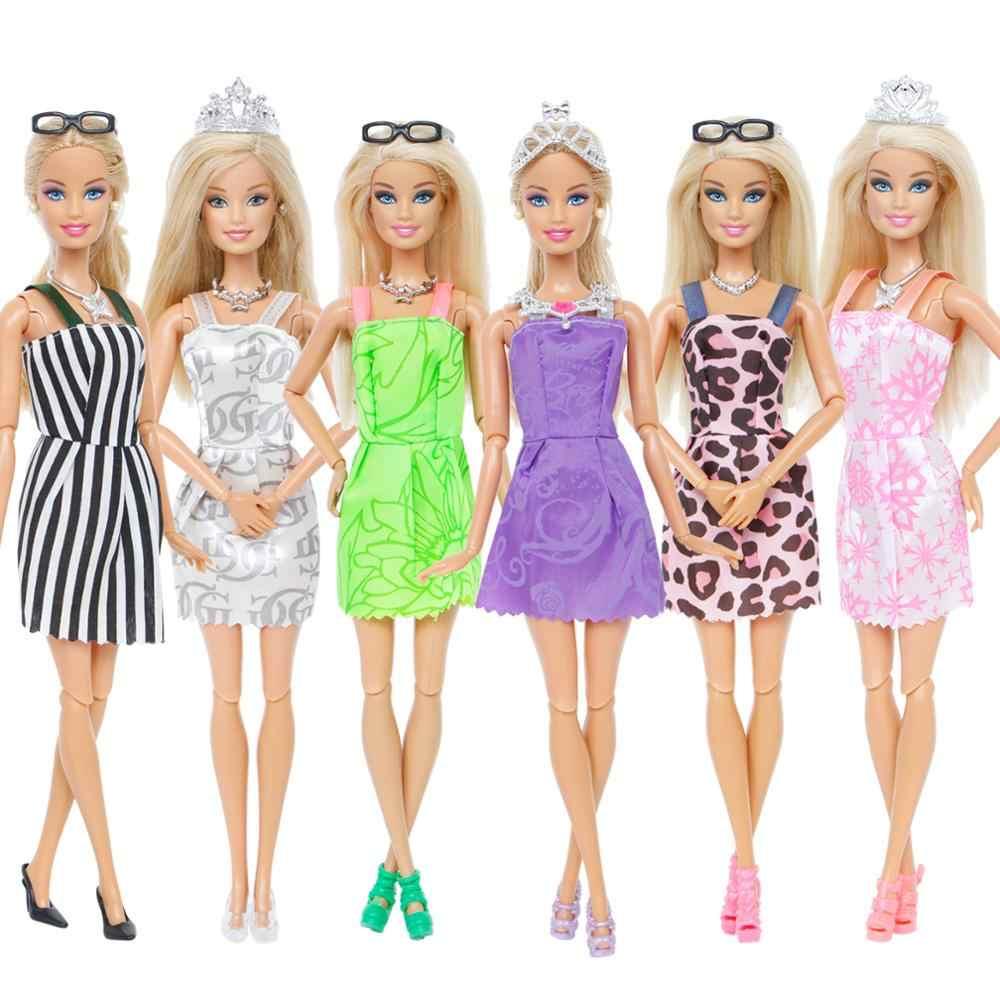 ... 35 Set Doll Accessories  10 Pcs Doll Clothes Dress + 4 Glasses + 6 ... 98eea49f9d7c