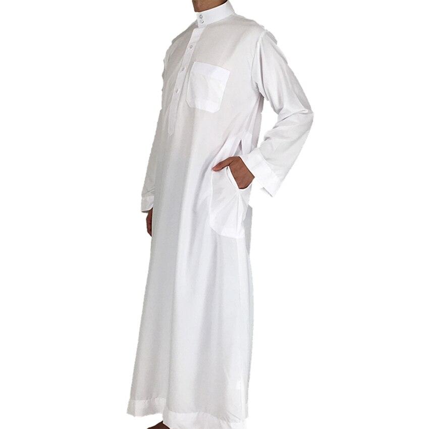 3b3fb3bec26 Beyaz İslam Arap Tasarımlar Erkekler Giyim Jubba Thobe Daffah Erkek  Müslüman Geleneksel Kostümleri Dubai Arapça Türk Kaftan ~ Free Delivery  June 2019