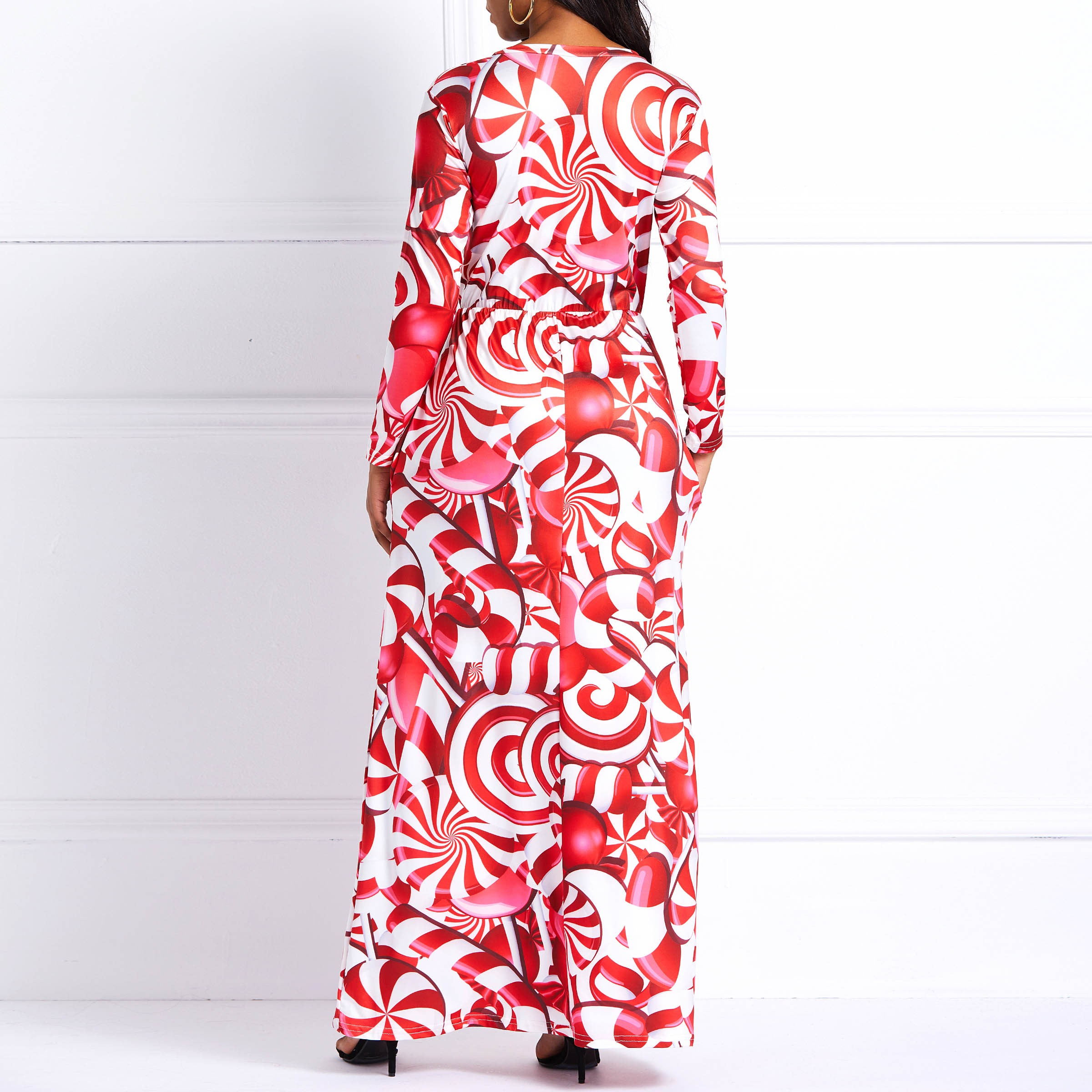 Women Long Dresses Sweet Elegant Red Casual Plus Size Milk Fiber Aline  Cartoon Print Female Fashion Party Office Lady Maxi Dress-in Dresses from  Women s ... 32f8f7d64948