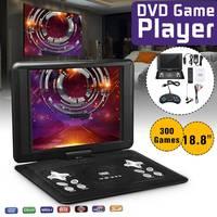 18.8 Portable Home Car Mini HD TV DVD Player HD+ 270 Rotate LCD Screen TV EVD USB + Gamepad Drop Ship Car Charger Portatil