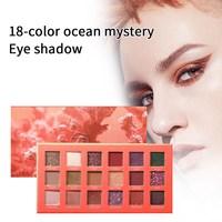 18 Colors Beauty Glazed Eyeshadow Palette Makeup Pigment Glitter Eyeshadow Professional Long Lasting Eyeshadow Cosmetic