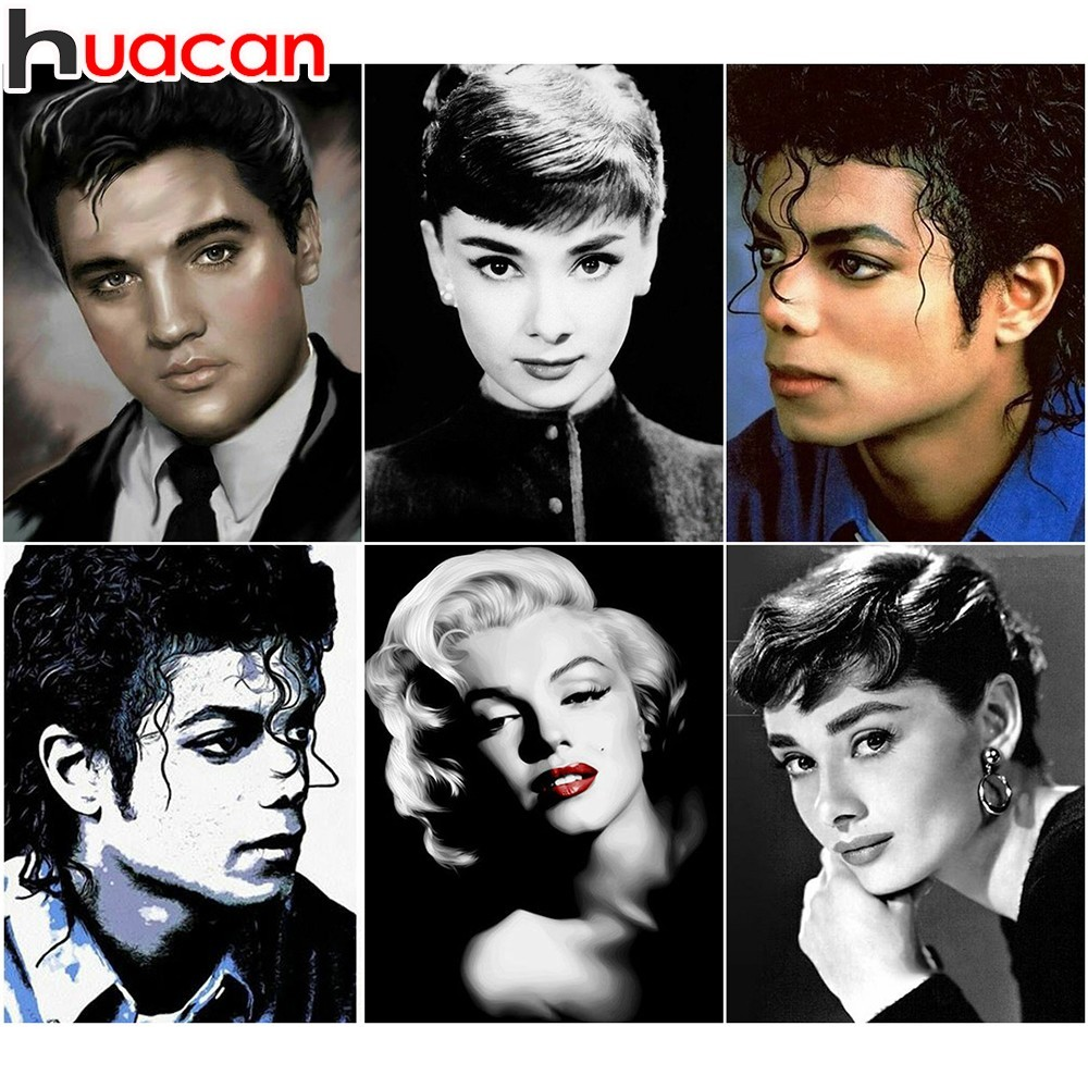 Elvis Marilyn Monroe Us 4 83 30 Off Huacan Michael Jackson 5d Diy Diamond Painting Marilyn Monroe Elvis Full Square Diamond Embroidery Rhinestone Home Decor In Diamond