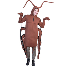 Funny Adult Cockroach Bug Flexible Polyfoam Animal Jumpsuit Carnival Fancy Dress Wings Halloween Costume For