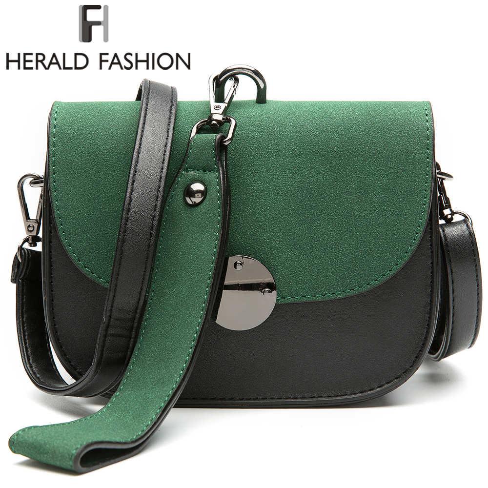 f3a4730e6d85 Herald модные Для женщин сумки панелями сумка Винтаж из искусственной кожи  сумка женские сумки через плечо