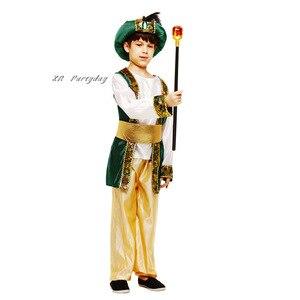Image 3 - Bambini Ragazzi Arabo Principe Cosplay Ragazzo Aladdin Principe costume di halloween per i bambini di Carnevale Festa di Compleanno Di Natale