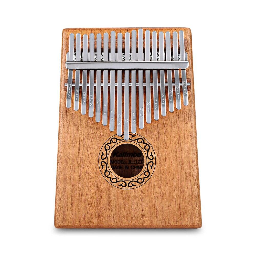 Tragbare B-17 T 17 Schlüssel Kalimba Daumen Klavier Mahagoni Körper Musical Instrument Massivholz Kalimba Mbira Daumen Paino