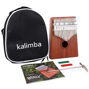 Image 2 - Kalimba 17 клавиш красное дерево большой палец пианино mbira музыкальный инструмент Африканский палец пианино 30 клавиш машина 21 ключевой инструмент музыкальный