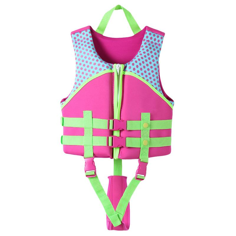 9fcb39e17 Chaleco salvavidas para niños, chaleco de flotabilidad, para nadar, para  niños, niñas, de 2 a 13 años, botón ajustable, envío directo