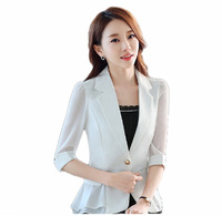 Women Blazers And Jackets Real Flying Roc 2019 Woman Blazer Casual Slim Women Sleeve Branco Feminino Office Lady Jacket Suit