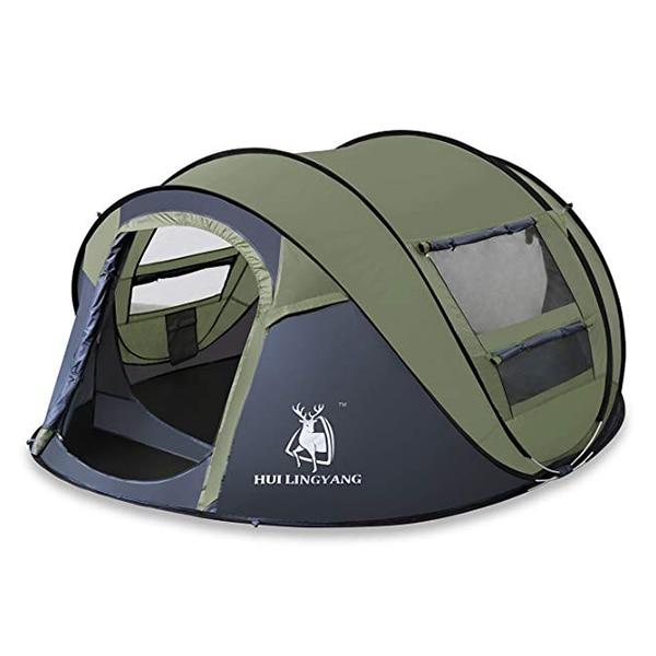 HUILINGYANG 190 T tentes en Polyester imperméable à l'eau rapide tente d'ouverture automatique 3-4 personnes Camping randonnée fournitures de plein air