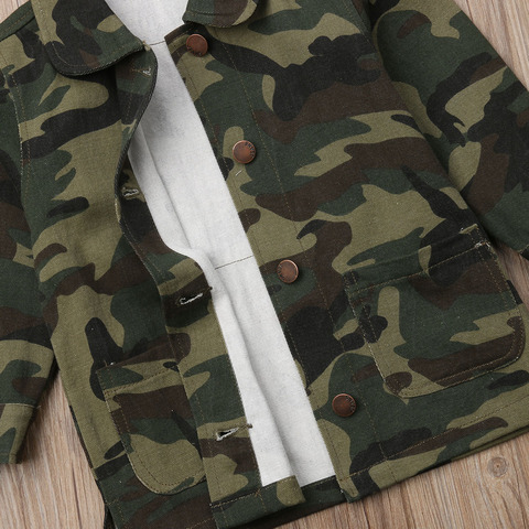 pudcoco menina custo 2y 8y camuflagem meninas criancas