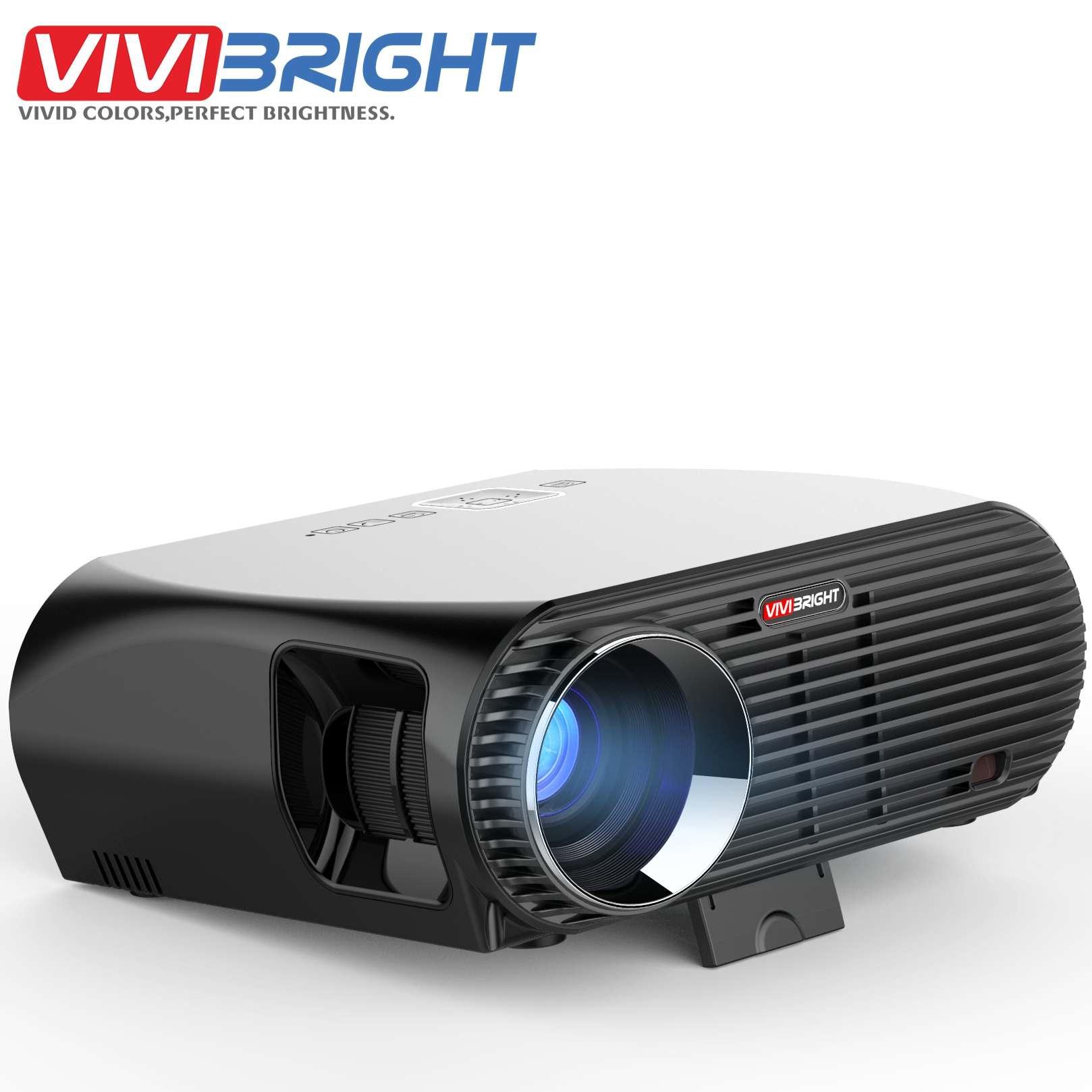 Vivibright GP100UP z systemem Android 6.01 WIFI inteligentne projektor LED 3500 lumenów 1280*800 p 1080 P HD kina domowego