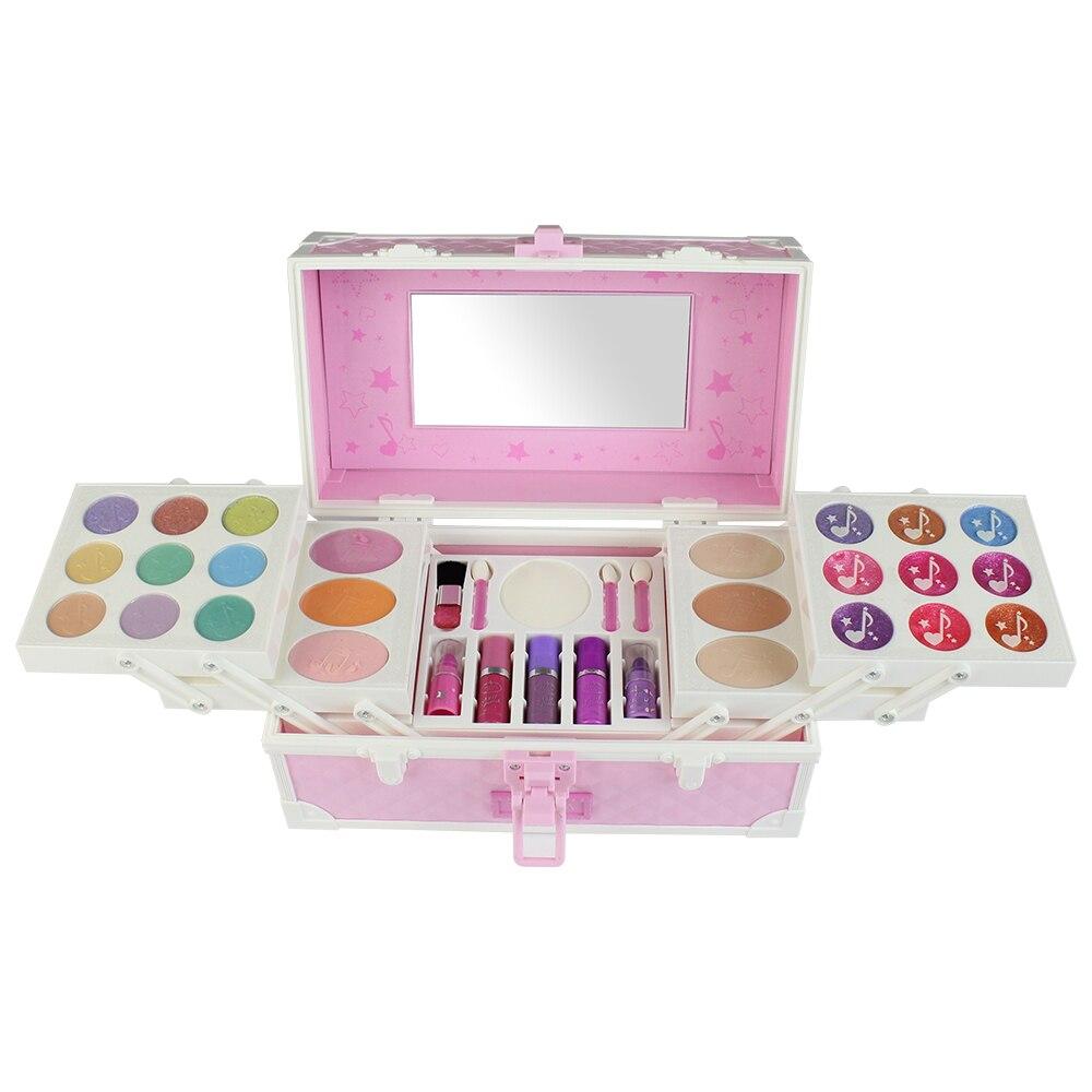Honing Cosmetische Set Simulatie Kaptafel Make-up Speelgoed Make-up Palet Oogschaduw Nagellak Water Poeder Voor Meisjes Kids Gift