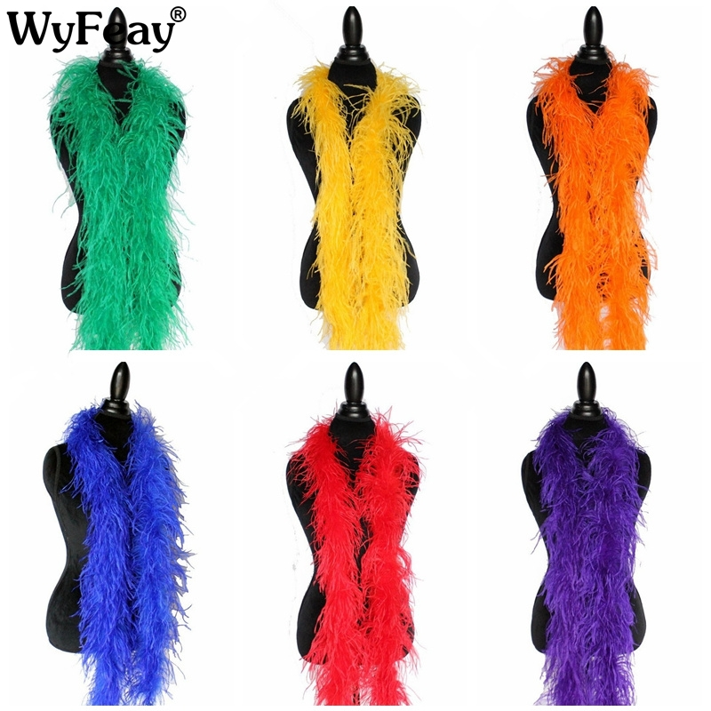 Wholesale 10 Meter fluffy ostrich feather boa skirt Costumes Trim for Party Costume Craft ostrich feather