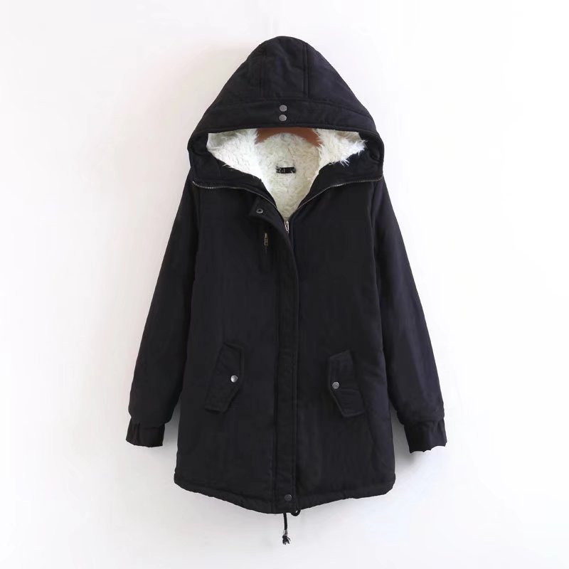 New Winter Jacket Women Thick Warm Hooded Parka Mujer Cotton Padded Coat Long Paragraph Plus Size 3xl Slim Jacket Female
