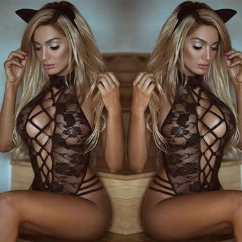 Women Sexy lingerie Clubwear Bodysuit Playsuit