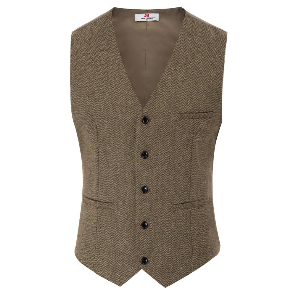 Men's Coat Slim Fit V-Neck Single Breasted Handkerchief Hem Waistcoat Vest Coat