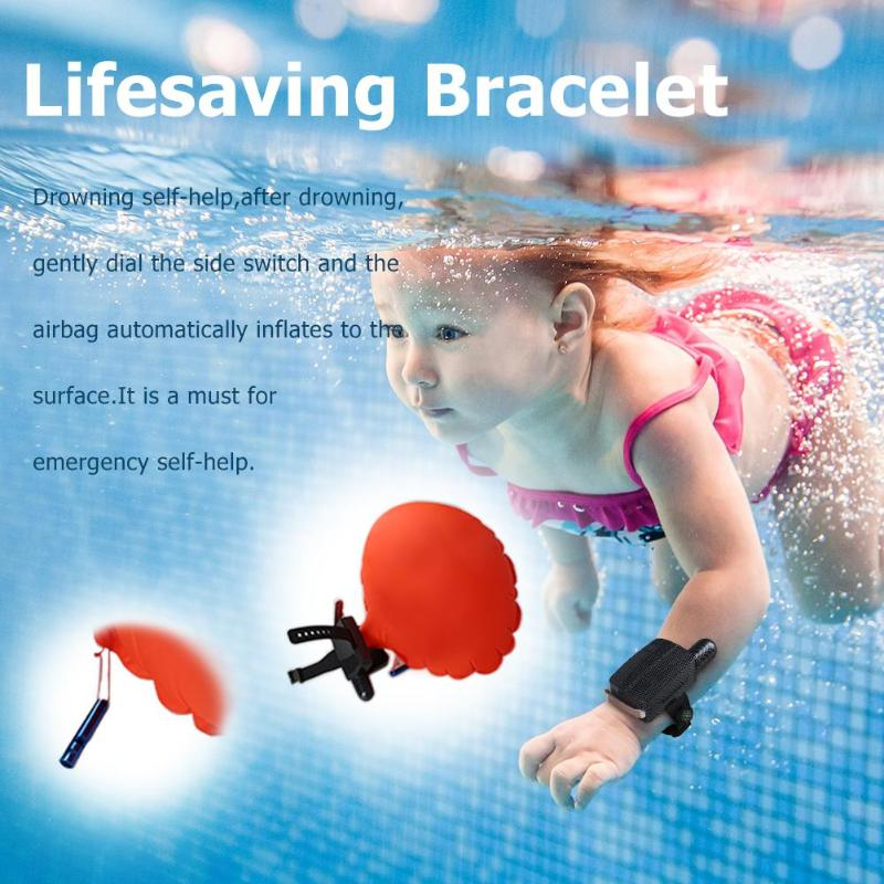 Hot Portable Anti Drowning Lifesaving Bracelet Floating Swimming Safety Self Rescue Wristband For Kid Baby Lifesave Dropshipping