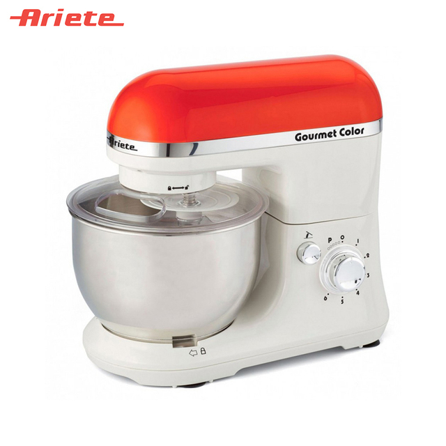Кухонная машина Ariete 1594/00 Gourmet Rainbow, 6 скоростей, насадки для взбивания, смешивания и замешивания теста, объем чаши 4 литра