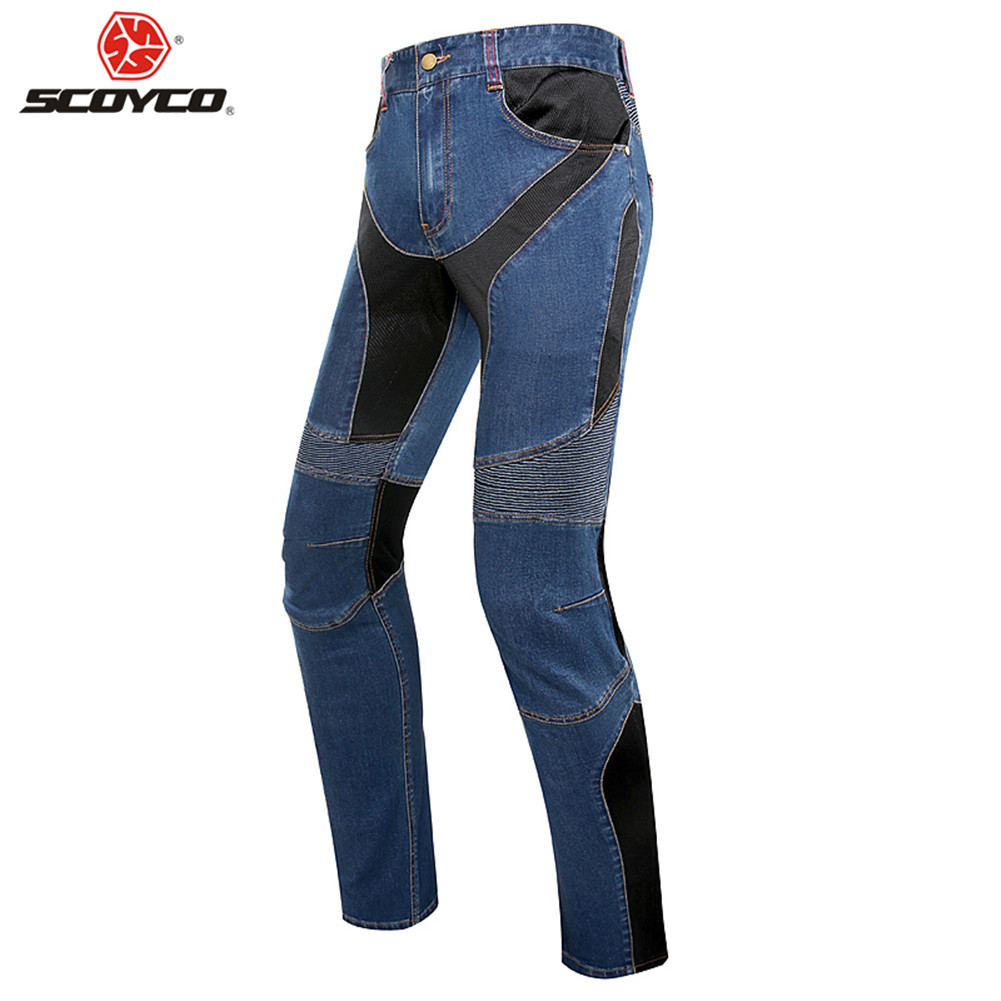SCOYCO P0431 Motorcycle Pants Riding Jeans Biker Trousers Man Reflective Clothing Moto Protection Protector Men Racing Clothes