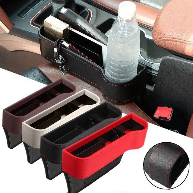 BLACK 2Pcs Universal Car Seat Gap Filler Faux Leather Pad Compatible with 1 Series E81 E82 E87 E88 F20 F21 F52 F40