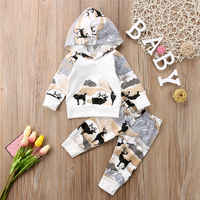 Pudcoco Babys Clothes Newborn Baby Boys Girls Deer Hooded Tops Pants Leggings Outfits Set Clothes AU
