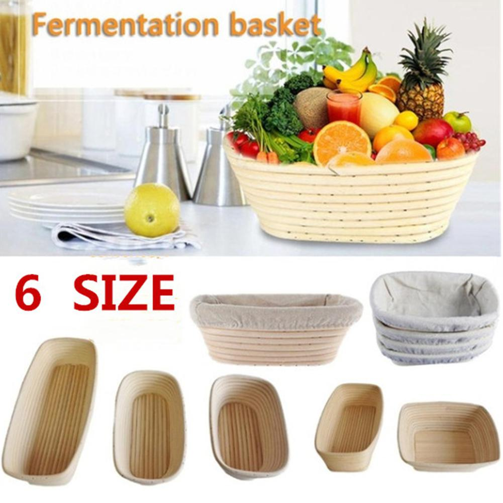 Various Size Oval Fermentation Rattan Basket Country Bread Baguette Dough Banneton Brotform Bread Proofing Proving Baskets