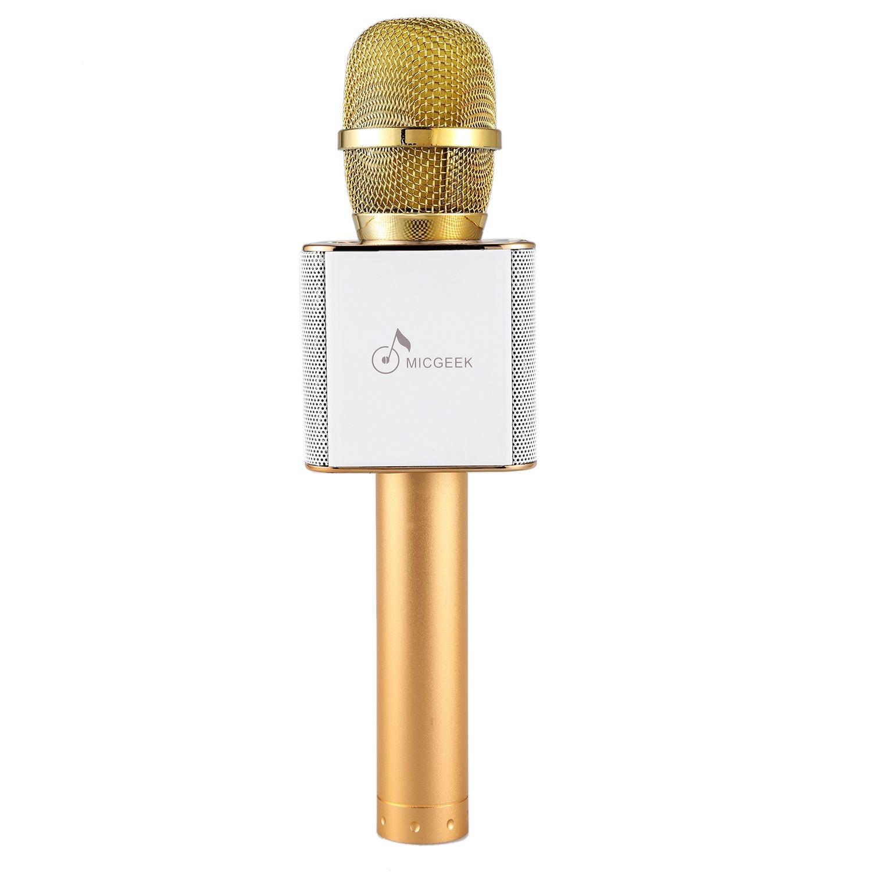 KTV Sing Karaoke OK Microphone Q9 Wireless Bluetooth Microphones With Speaker Mini Home Outdoor KTV For Iphone