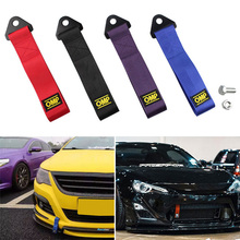 8-12MM High Strength Racing Red Towing Hook Sports Tow Strap Set Car Trailer Rope For Vehicle Front Rear Bumper new cnc aluminum front rear tow hook screw car racing cnc for mitsubishi lancer evo ex red auto trailer towing bars high quality