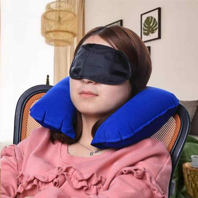 U-образная подушка для путешествий надувная подушка для шеи, автомобильная голова, надувная подушка для отдыха для путешествий, офиса, для отдыха, подушка Шейная подушка