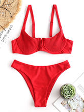 Shirred Berkawat Balconette Bikini Set(China)