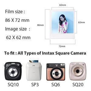 Image 4 - 후지 필름 폴라로이드 포토 용지 Instax Square Film Instax Sq10 Sq6 Sq20 인스턴트 카메라 용 화이트/블랙 에지 인화지