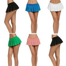 Las mujeres faldas cortas Micro Mini vestido Bodycon Club de baile falda  baile Clubwear metálico falda 9a385ca83e35