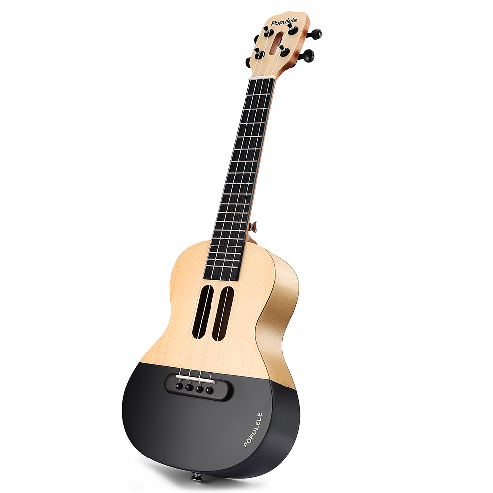Populele 23 Inch APP LED Bluetooth USB Smart Ukulele Gift For Beginners User Friendfly Pinao Toy Musical Instrument - 2