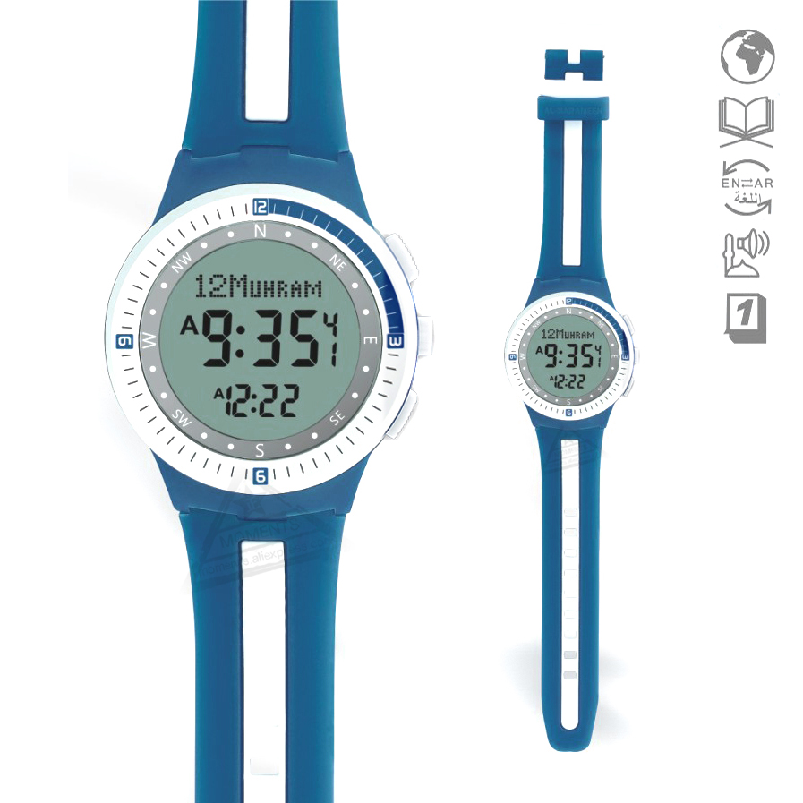 Official Website Sporting Islamic Watch Prayer Waterproof 6505 Prayer Watch With Adhan Azan Watch With Qiblah Compass Hijri Stopwatch For Sale Men's Watches Watches