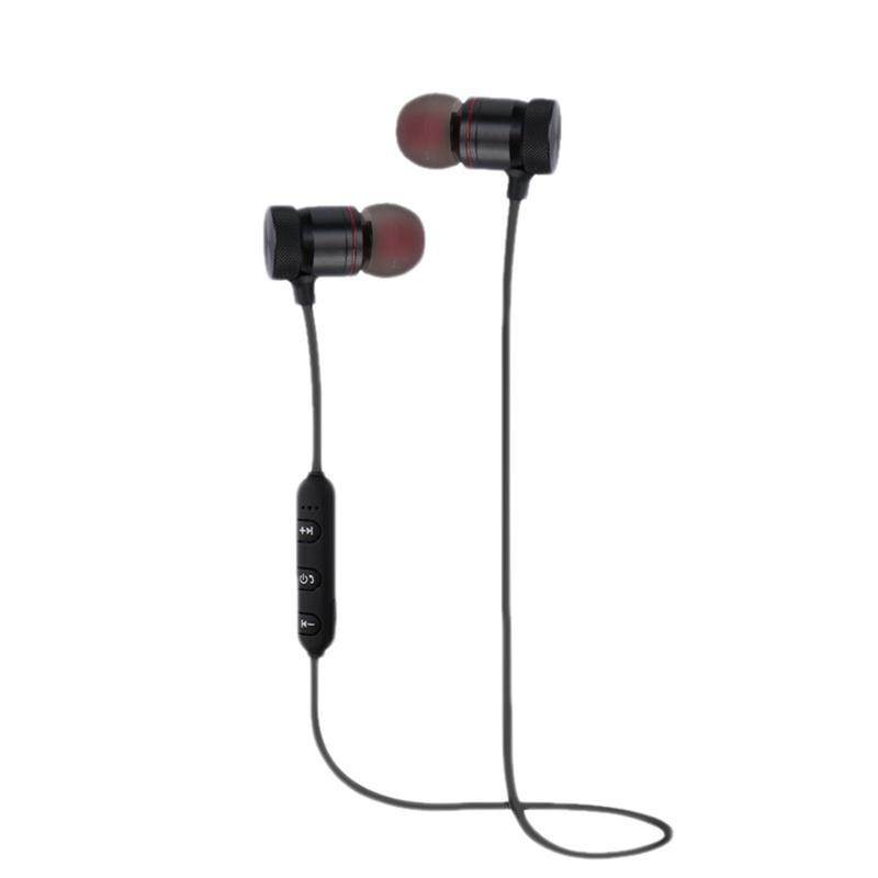 Image 2 - Portable Earphones Wireless Bluetooth Earbuds Sport Running HIFI Stereo Magnetic Devices With Mic Hands free Call For Phones-in Bluetooth Earphones & Headphones from Consumer Electronics
