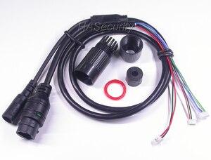 "Image 4 - F0.95 lens M16 IRC filter 1/2. 8 ""SONY STARVIS IMX335 CMOS image sensor + Hi3516E V300 CCTV IP camera PCB board module + LAN kabel"