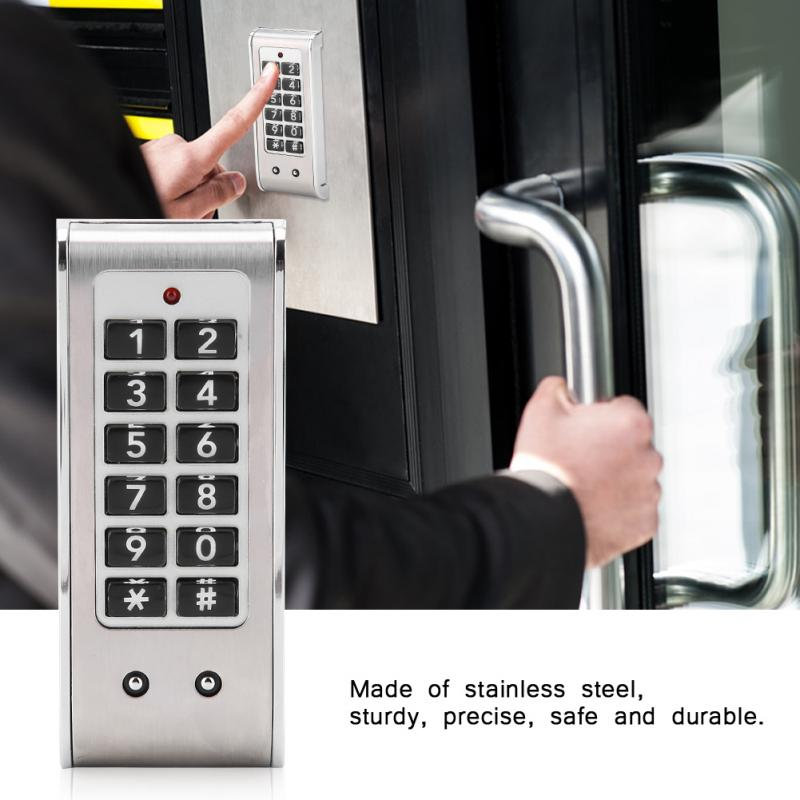 Stainless Steel Electronic Password Lock Temporary Password Drawer Combination Lock friends f12 stainless steel combination lock silver
