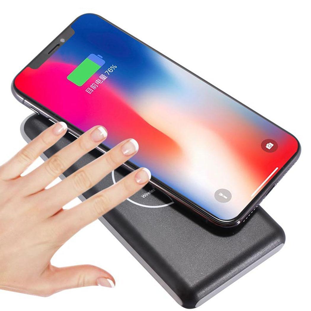 Chargeur sans fil Mobile 20000 mAh chargeur sans fil 85% banque de batterie au lithium-ion polymère