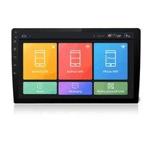 """Universale 10.1 """"Ultra sottile Car Stereo Radio Quad-Core 2 + 32G WIFI 4G LTE Android 6.0 2DIN HD Dello Schermo di Tocco di GPS Dello Specchio di Collegamento di OBD"""