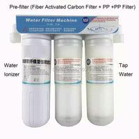 Novo pré-filtro de 3 estágios para máquina de água alcalina